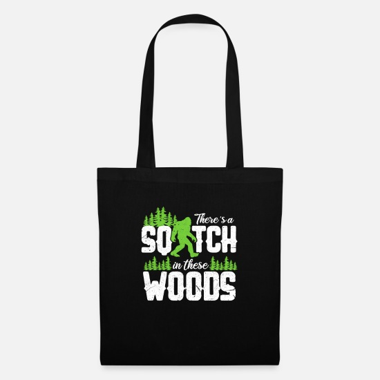 Sasquatch Bags & Backpacks - Bigfoot Sasquatch Big Foot Yeti Squatch Gift - Tote Bag black