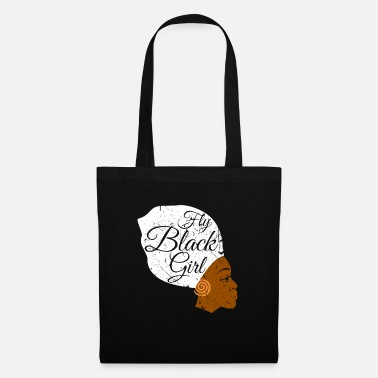 Casual Fly Black Girl - Tote Bag