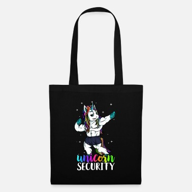 Muscular Unicorn Security Squad Muscle Pose Funny Dad - Tote Bag