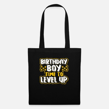 Up Compleanno Boy Time To Level Up Gamer Boy Regalo - Borsa di stoffa