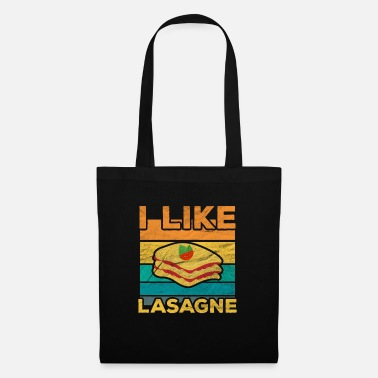 Retro I like lasagna - Tote Bag