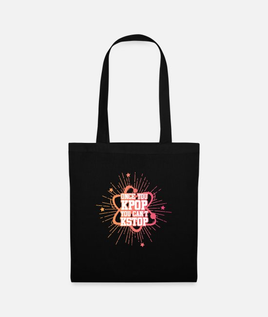 Animal Bags & Backpacks - K-Pop Once You Kpop You Can not Stop KStop - Tote Bag black