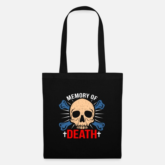 Gift Idea Bags & Backpacks - Skull Death Tote Gift Festival Gift Idea - Tote Bag black