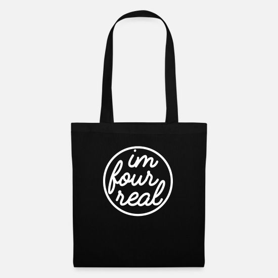 Gift Idea Bags & Backpacks - 4th birthday - Tote Bag black