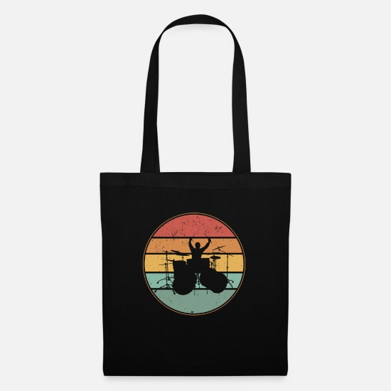 Gift Idea Bags & Backpacks - Drummer drummer drummer gift - Tote Bag black