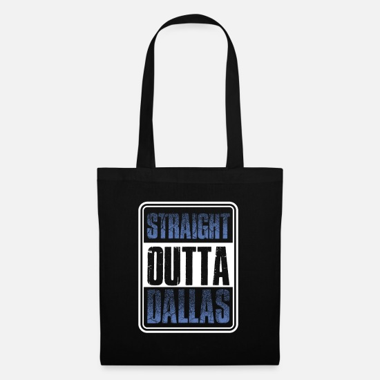 Out Bags & Backpacks - Straight from Dallas Texas gift - Tote Bag black