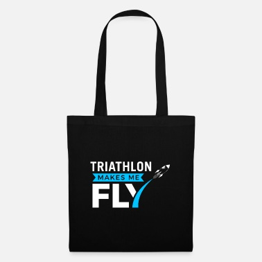 Triathlon - Makes me fly - weiß 02 - Stoffbeutel