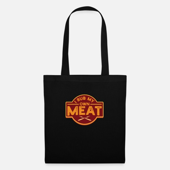 Gift Idea Bags & Backpacks - Mens I Rub My Own Meat graphic | Pig Cook Butcher - Tote Bag black
