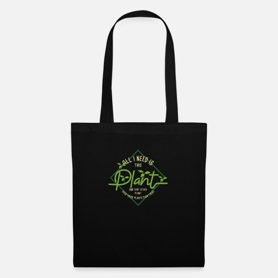 Gift Idea Bags & Backpacks - Plants All I Need product | Plantsman Flowers Tee - Tote Bag black