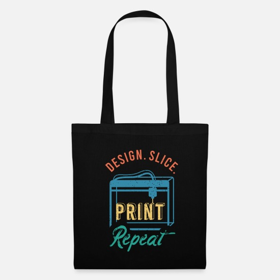 Funny Sayings Bags & Backpacks - 3D Print Gift Funny Quote 3D Print - Tote Bag black