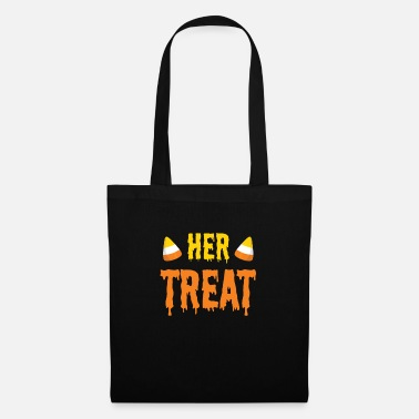 Partner Halloween Her Treat Funny Matching Couple Part 2 - Tote Bag