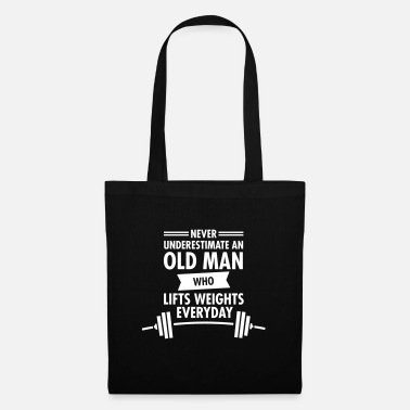 Weight Lifting Old Man - Weight Lifting - Sac en tissu