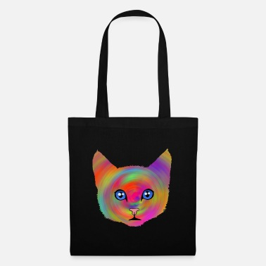 Hypnotism colorcat - Tote Bag