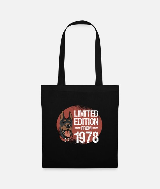 42 Years Old Bags & Backpacks - Born in 1978, dog limited edition Bday - Tote Bag black