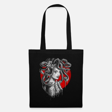 Snake Head Girl Medusa - Tote Bag