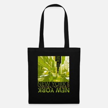 New York, Street, USA, Big Apple, Souvenir,green - Tote Bag