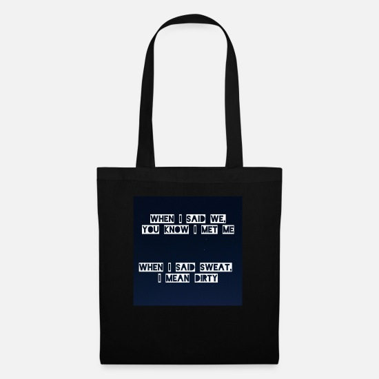 Cool Quote Bags & Backpacks - slutgarden - Tote Bag black
