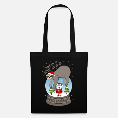 Snow Sloth snow globe Wake me up before you Ho Ho - Tote Bag