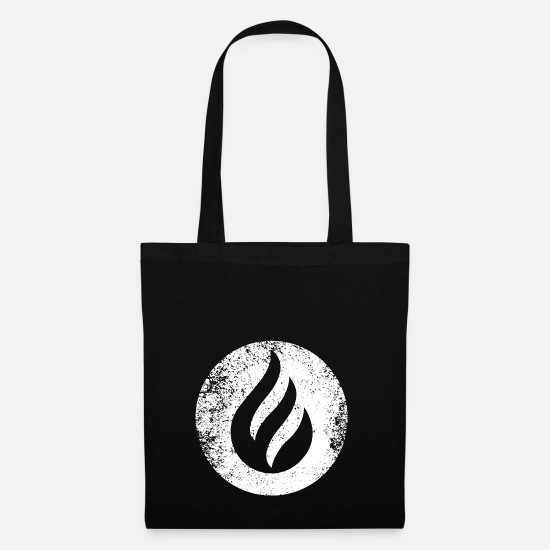 Grungy Bags & Backpacks - SHAPES SHAPE GRUNGE - Tote Bag black