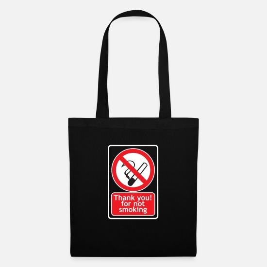 Nicotine Bags & Backpacks - Thank you! For Not Smoking - Tote Bag black