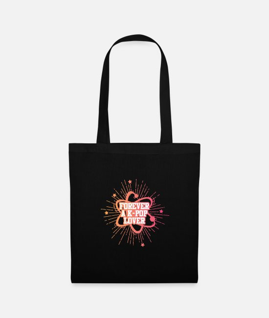 Animal Bags & Backpacks - K-Pop Forever A KPop Lover T-Shirt - Tote Bag black