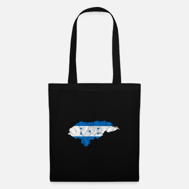 Latin America Honduras flag outline Latin America vacation travel - Tote Bag
