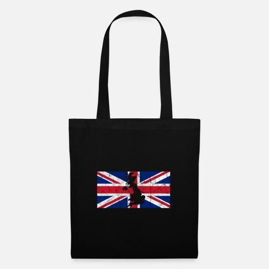 Großbritannien Karte Umriss.Uk Großbritannien Flagge Union Jack Umriss Karte Stoffbeutel