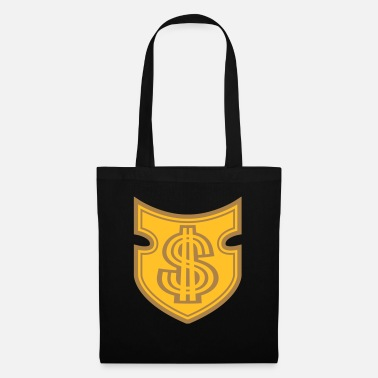 Wealth emblem dollar shield symbol sign money rich mil - Tote Bag