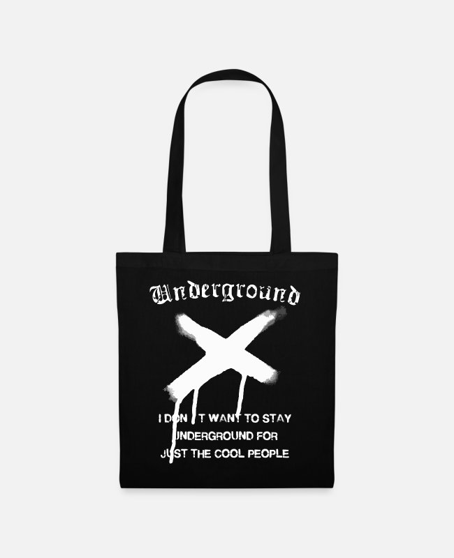 Hipster Bags & Backpacks - Underground Graphic - Tote Bag black