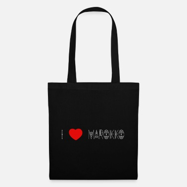 Continent i love Morocco - lettering white - Tote Bag