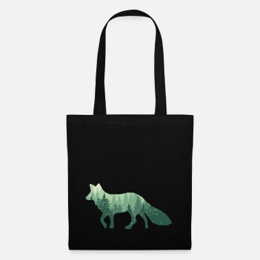 Fox forest / fox with forest - Tote Bag