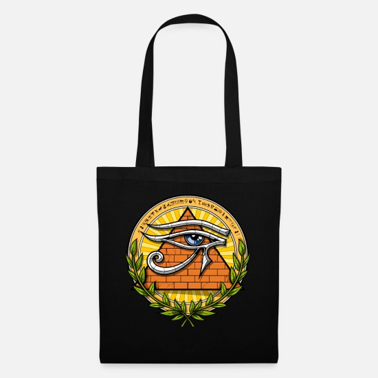 Illuminati Bags & Backpacks - Ancient Egyptian Pyramids Eye Of Horus - Tote Bag black
