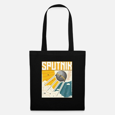 Sputnik Sputnik Retro Space Nation Soviet USSR Vintage - Tote Bag