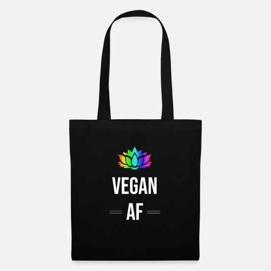 Ace Bags & Backpacks - Vegan AF Vegan As Fuck-Funny Vegetarian T-Shirt - Tote Bag black