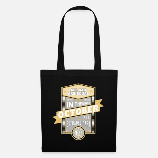 Birthday Bags & Backpacks - All Dad Are Equal September Birthday Dad Dad - Tote Bag black
