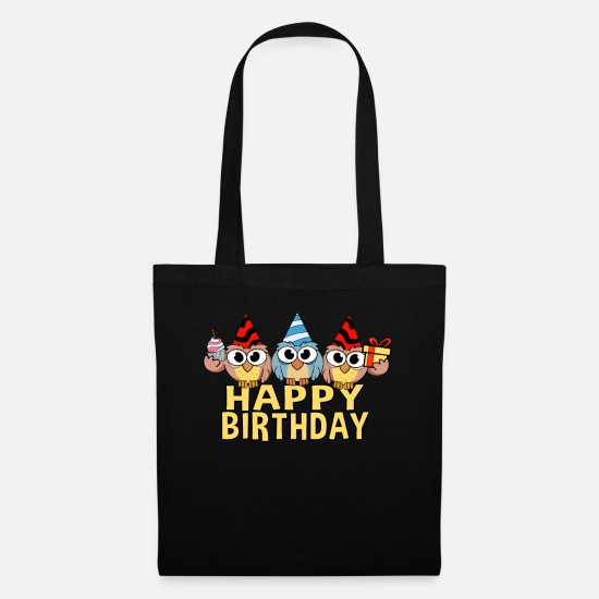 Birthday Bags & Backpacks - Congratulations - Tote Bag black