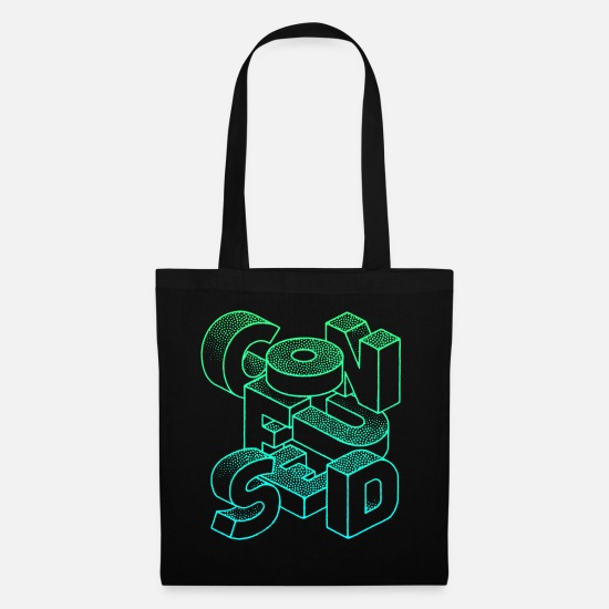 Typo Collection V2 Bags & Backpacks - Confused - Tote Bag black