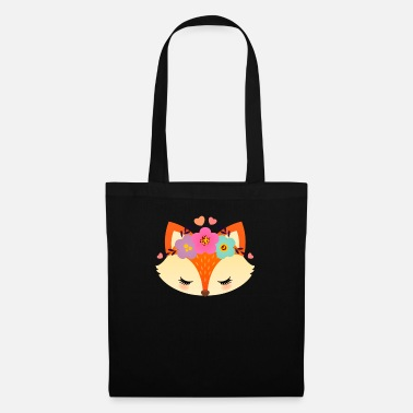 Intelligent Cute Fox With Flowers - Mulepose