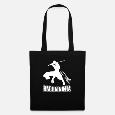 Späck Bacon Ninja T-Shirt - Japansk Ninja Bacon Fighter - Tygväska