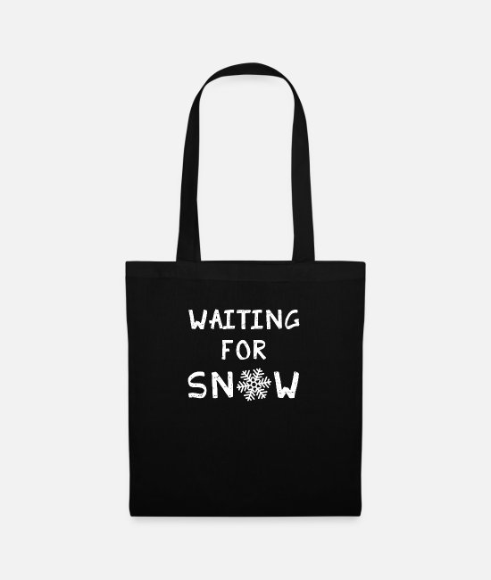 Ski Freak Bags & Backpacks - Waiting for Snow Winter snow snowflake sport - Tote Bag black