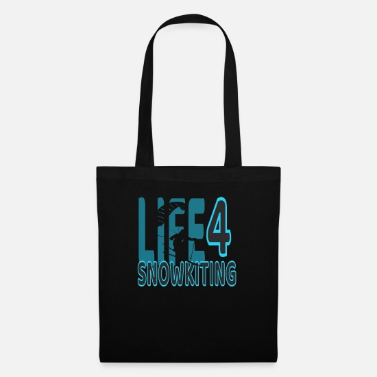 Gift Idea Bags & Backpacks - Snowkiting winter sports winter vacation - Tote Bag black