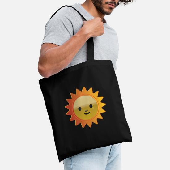 Sun Smilie Emoji Comme Un Pouce Leve Sac En Tissu Spreadshirt