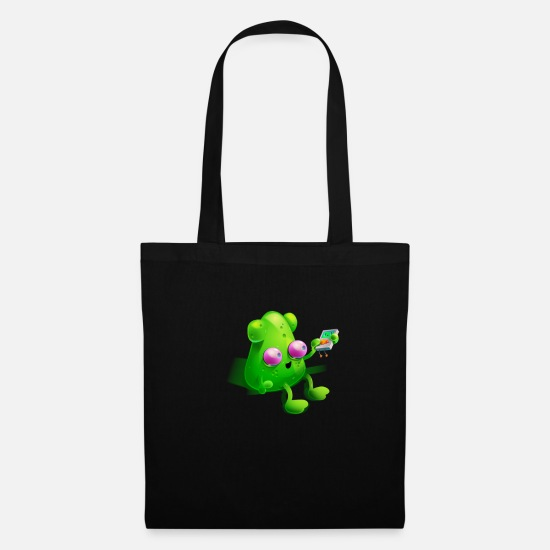 Area 51 Bags & Backpacks - Alien with MP3 player | Fun Area Gift 51 - Tote Bag black