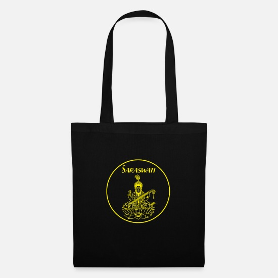Symbol  Bags & Backpacks - Buddhism Saraswati music God celebration gift - Tote Bag black