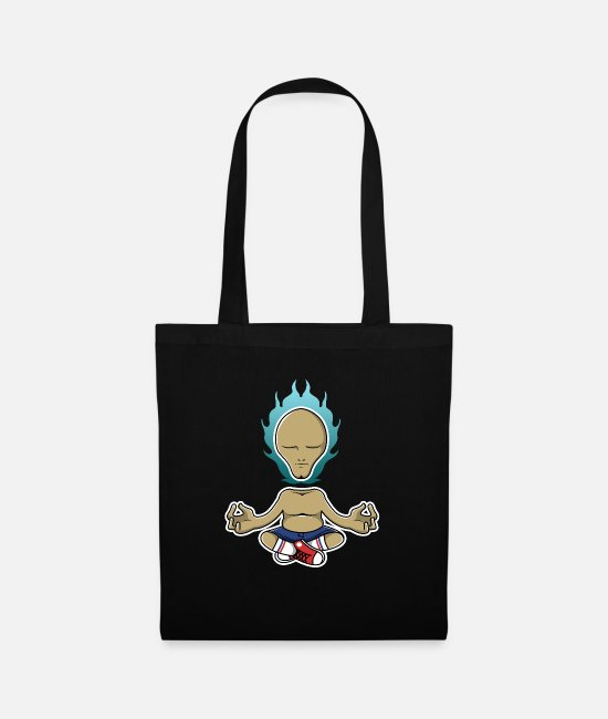 Yogi Bags & Backpacks - Enlightened hipster yogi - Tote Bag black