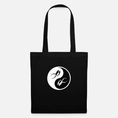 Deep Sea Spearfishing Underwater Freediving. Ying And Yang - Tote Bag