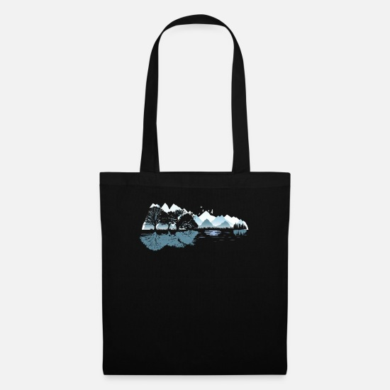 Song Bags & Backpacks - Fun Acoustic Guitar Nature Lovers Gift product - Tote Bag black