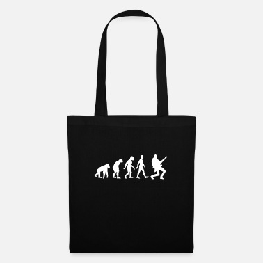 &amp Grafica Evolution Of Man Guitar, Rock print, - Borsa di stoffa