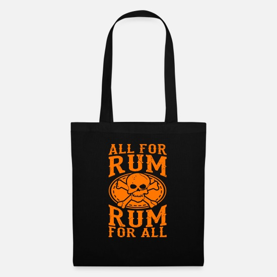 Gold Bags & Backpacks - All for rum, rum for all - Tote Bag black