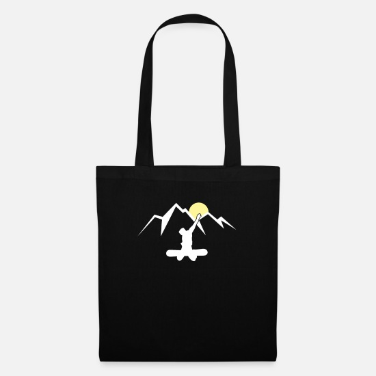 Mountains Bags & Backpacks - Snowboarding Snowboard Snowboarder Gift - Tote Bag black